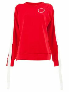 Monse striped sweatshirt - Red