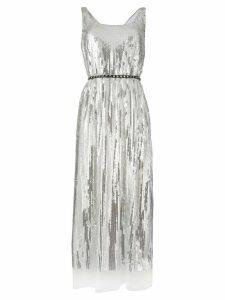 Marc Jacobs belted flared midi dress - Metallic