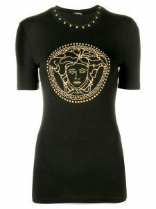 Versace Medusa crystal-embellished top - Black