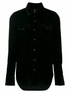 Saint Laurent long-sleeve fitted shirt - Black