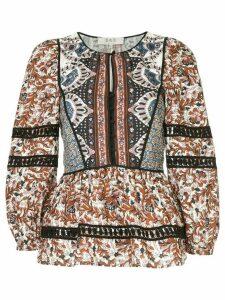Sea Gemma Kantha stitch top - Multicolour