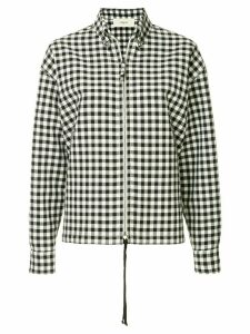 Ports 1961 gingham print zipped shirt - Black