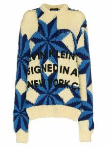 Calvin Klein 205W39nyc Star design Intarsia wool jumper - White