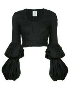 Rosie Assoulin puff sleeve wrap blouse - Black