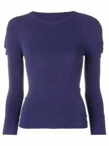Pleats Please Issey Miyake stretch fit jumper - Blue