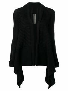 Rick Owens waterfall draped cardigan - Black