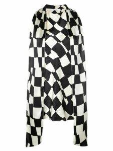 Oscar de la Renta geometric print blouse - Black