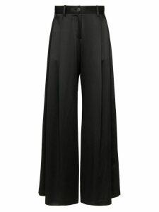 Nili Lotan pleated wide leg trousers - Black