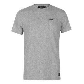 Firetrap Blackseal Herringbone T Shirt
