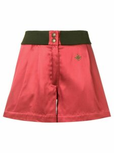 Mr & Mrs Italy logo plaque shorts - Red