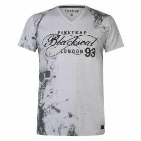 Firetrap Blackseal Smoke V Neck T Shirt