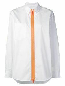 Maison Margiela contrast zip shirt - White