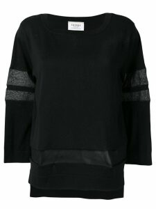 Snobby Sheep sheer panels jumper - Black