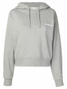 Han Kjøbenhavn embroidered logo hoodie - Grey