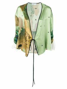 Act N°1 wrap kimono top - Green