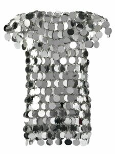 Paco Rabanne ring appliqué top - Metallic