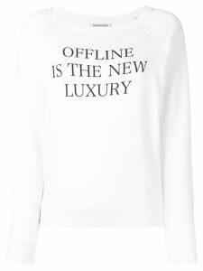 Quantum Courage print sweatshirt - White