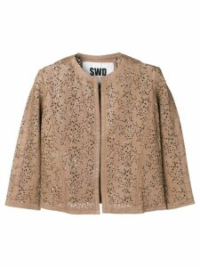 S.W.O.R.D 6.6.44 cropped cardigan - Brown