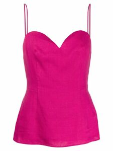 Theory sweetheart neckline top - PINK