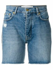 Victoria Victoria Beckham side stripe denim shorts - Blue