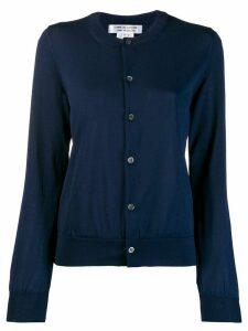 Comme Des Garçons round neck knitted cardigan - Blue