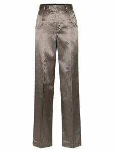 Situationist metallic high waisted trousers - Grey