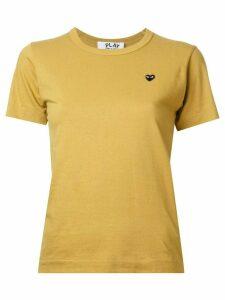 Comme Des Garçons Play black heart T-shirt - Yellow