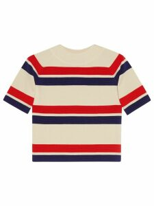 Gucci Striped wool top - NEUTRALS