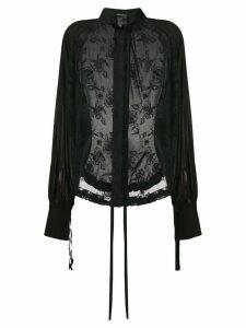 Ann Demeulemeester Orsay shirt - Black