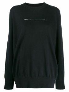 Mm6 Maison Margiela statement stitch jumper - Black