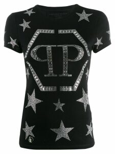 Philipp Plein crystal star T-shirt - Black