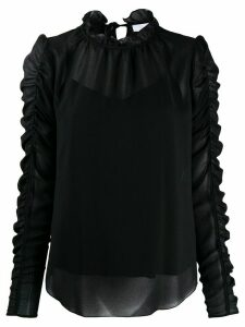 See by Chloé gathered sleeve blouse - Black