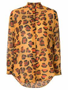 Tata Naka oversized leopard shirt - Yellow