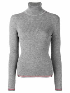 Thom Browne RWB Tipping Stripe Merino Turtleneck - Grey