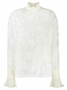 See by Chloé floral lace blouse - White