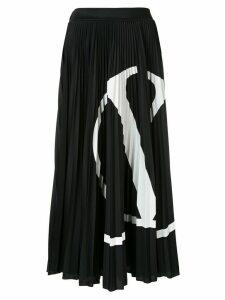 Valentino VLOGO pleated skirt - Black