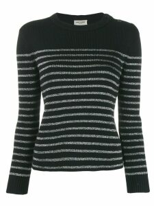 Saint Laurent Metallic striped sweater - Black
