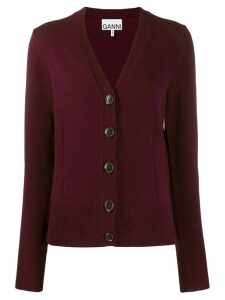 GANNI wool knit cardigan - Red