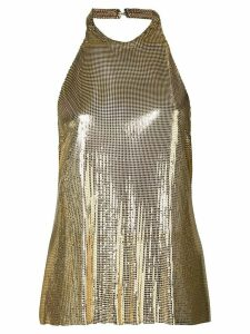 Fannie Schiavoni backless chainmail top - GOLD