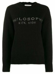 Philosophy Di Lorenzo Serafini embellished logo sweater - Black
