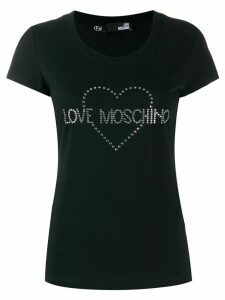Love Moschino embellished logo T-shirt - Black