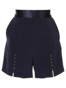 Comme Moi beaded detail shorts - Blue