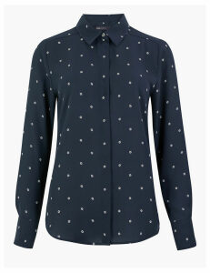 M&S Collection Printed Long Sleeve Shirt