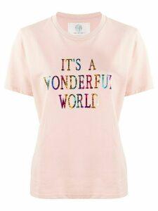 Alberta Ferretti slogan print T-shirt - PINK