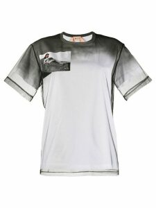Nº21 mesh panel T-shirt - White