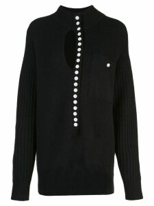 Proenza Schouler White Label PSWL Double Faced Knit Elongated Henley -