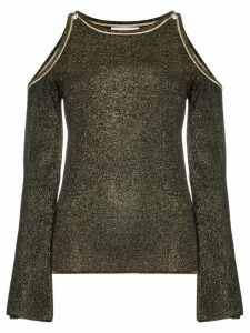 Peter Pilotto glittered cold-shoulder jumper - Black