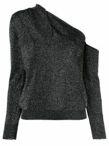 Cushnie cut-detail asymmetric top - Black