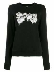 Karl Lagerfeld orchid logo sweater - Black