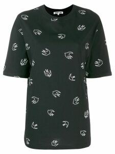McQ Alexander McQueen Swallow embroidery T-shirt - Black